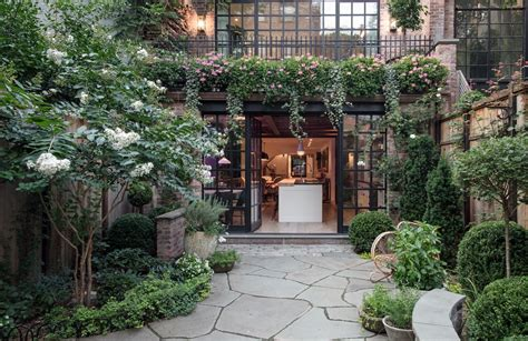 backyard nyc a three year renovation and a glass rooftop studio perfect