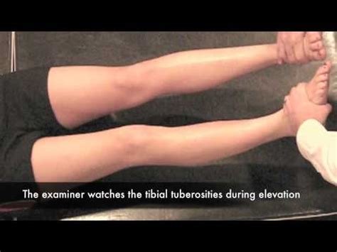 external test external rotation recurvatum test 2 leg cr