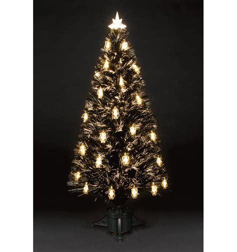 4ft fibre optic tree with warm white gold lanterns ebay