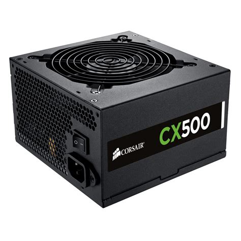 alimentatore 500w pc corsair cx500 80plus bronze alimentation pc corsair sur
