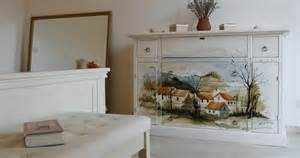 pics photos hand painted bedroom murals decorating dolls house miniature hand painted shabby chic single bed