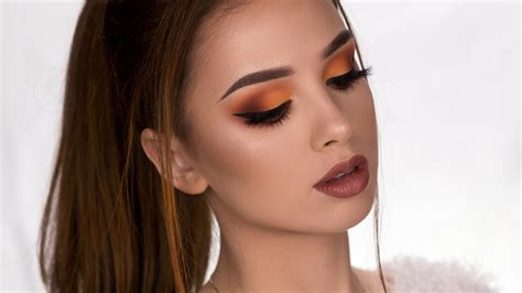 makeup tutorial yt fall inspired makeup tutorial matte brown orange