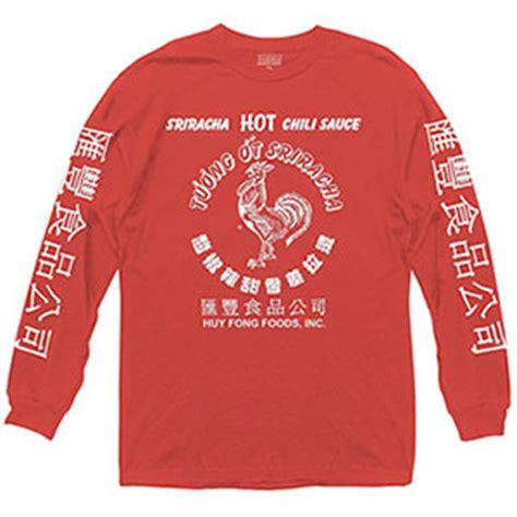 sriracha hot sauce bottle long sleeve shirt sriracha heaven