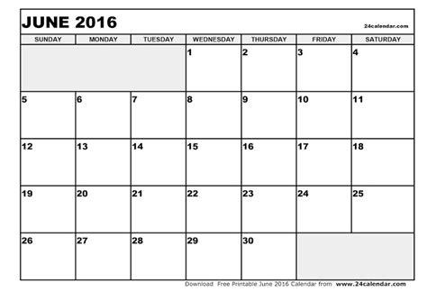 blank printable june 2016 calendar free june 2016 printable calendar blank templates