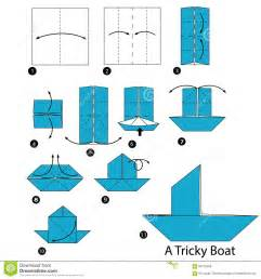 Step By Step Origami Boat - step by step how to make origami a tricky