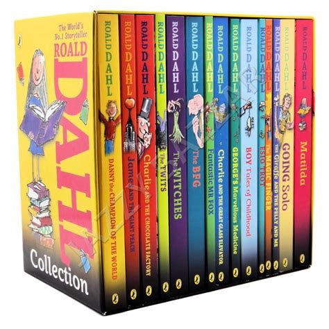 The Book Of Set roald dahl collection phizz whizzing 15 classic books box set childrens books 9780141349985 ebay