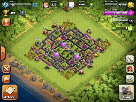 clash of clans layout strategy level 9 clash of clans tips town hall level 9 layouts chainimage