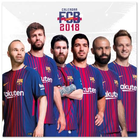 Calendario Fc Barcelona Calendario 2018 Fc Barcelona Nosoloposters