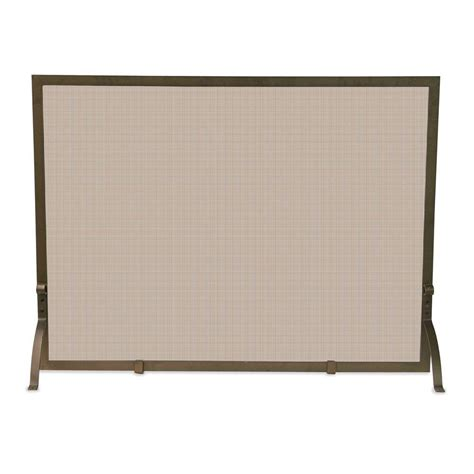 bronze fireplace screen uniflame bronze single panel fireplace screen s 1642 the home depot