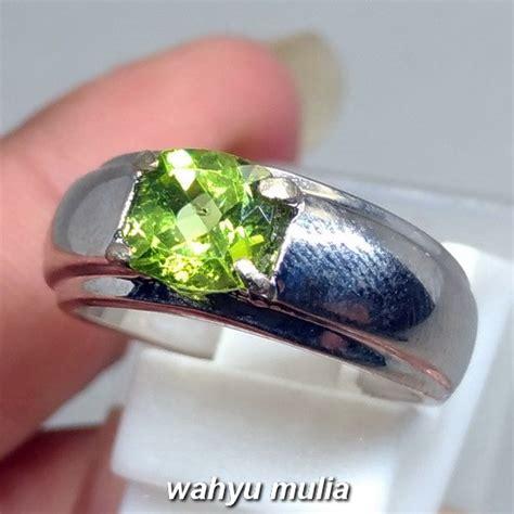 Cincin Batu Akik Permata Peridot cincin batu permata hijau peridot asli kode 1083 wahyu