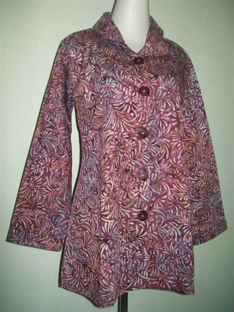 Mukena Wanita 015 blus batik modern muslim lengan panjang trendy cp015