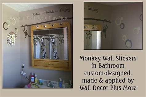 decorating with wall vinyl custom made monkey wall