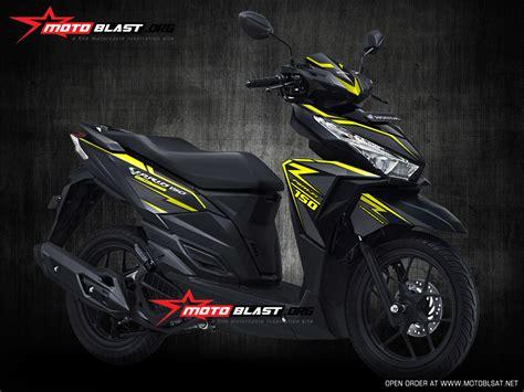 Stiker Striping Motor Honda Vario Techno Esp 2015 Merah modifikasi striping honda vario 150 esp black matte