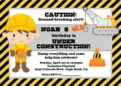 construction themed birthday card template 40 construction themed birthday ideas hative