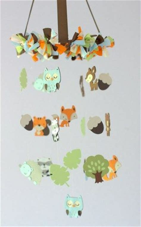 forest friends nursery mobile small nursery decor baby