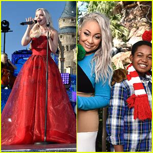 dove cameron reigns in red dress for disney channel