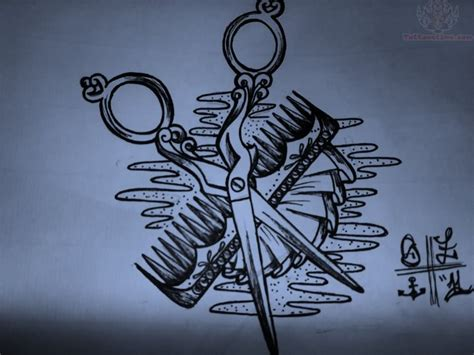 scissor tattoo comb images designs