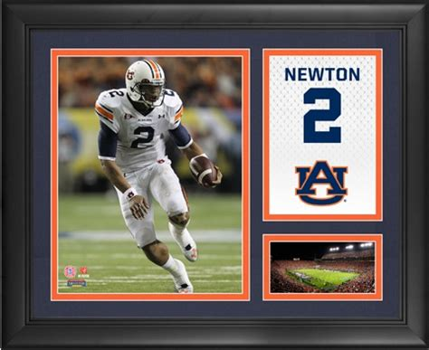 auburn university tigers cam newton campus legend framed