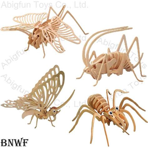 Cricket Wooden Craft 3d wood craft butterfly model wooden insect construction kit jigsaw ant puzzle abigfun toys co