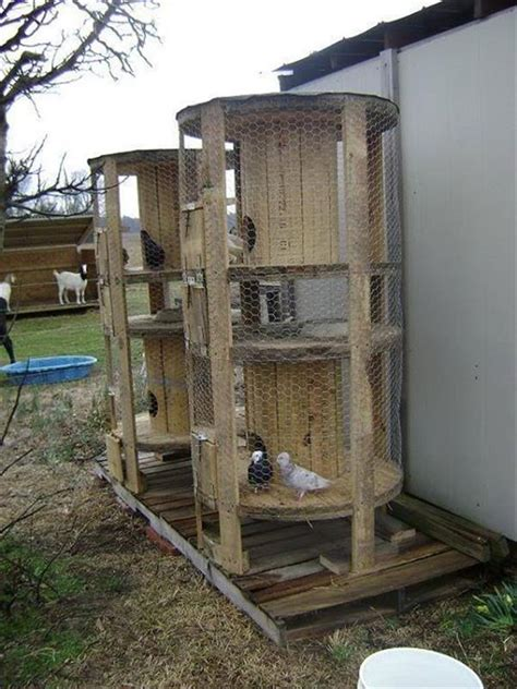 Flooring For Dog Pens by Beautiful Pigeon House Cage With Pallets Pallets Designs