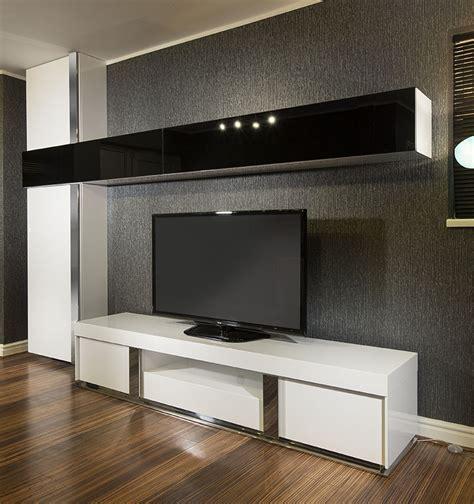 Tv Storage Cabinet Large Tv Stand Wall Mounted Storage Cabinet Black Glass White Gloss Ebay