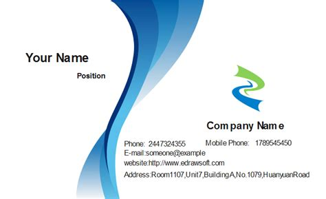 Vistaprint Business Cards Blue Template by Abstract Blue Business Card Template