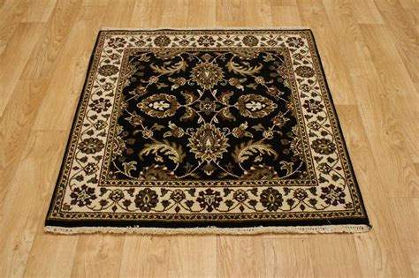 4x4 Rug by Allover Design Black Square 4x4 Agra Jaipour Area Rug Carpet Wool Ebay