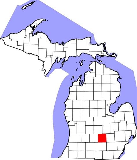 Ingham County Search File Map Of Michigan Highlighting Ingham County Svg Wikimedia Commons
