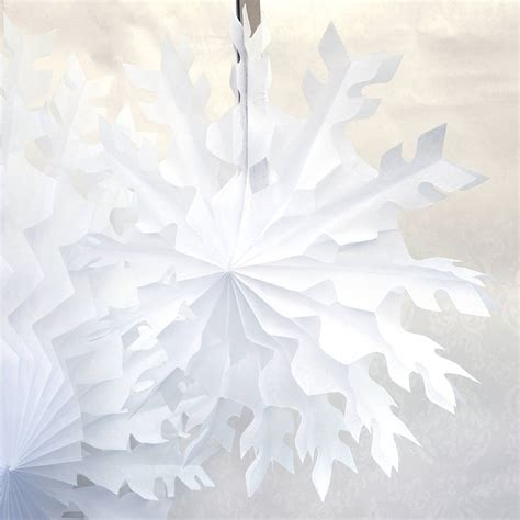 white paper christmas decorstions paper tissue snow flakes white snowflake tissue paper fan tissue hanging fan wedding