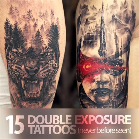 15 never before seen double exposure tattoos by aliens