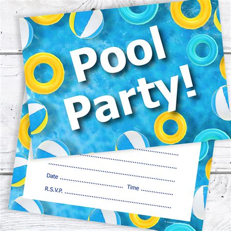 free printable 1st birthday pool party invitations template