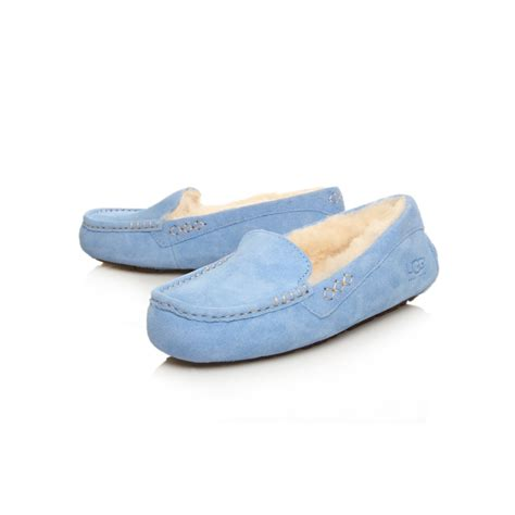 ugg slippers ugg ansley slippers in blue lyst