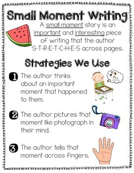 how to write a small moment story {anchor chart} by jamie
