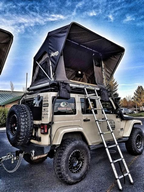jeep roof top tent freespirit recreation adventure series m55 jeep edition