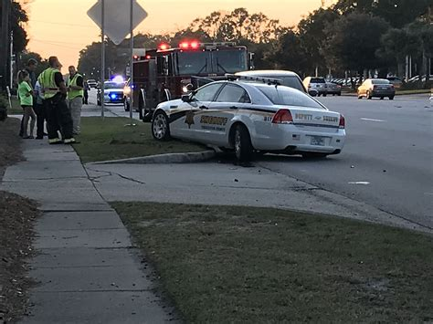 ems responds  officer involved accident  savannah hwy