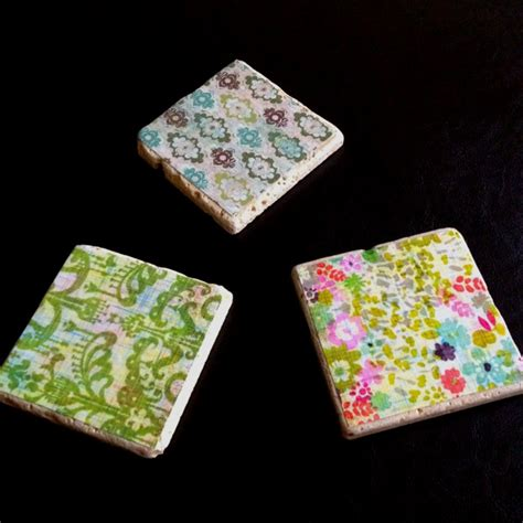 how to decoupage coasters decoupage drink coasters gift it
