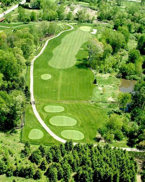 overhead view of golf swing mud run golf course in akron ohio usa golf advisor