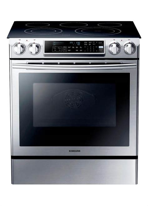 Range Home Depot by Samsung 5 8 Cu Ft Slide In Electric Range With Self