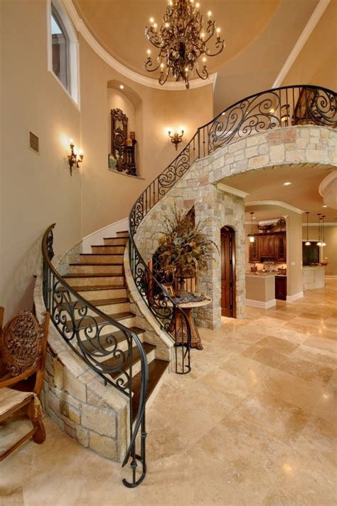 stairway decor wood forest mediterranean staircase elegant decor ideas in