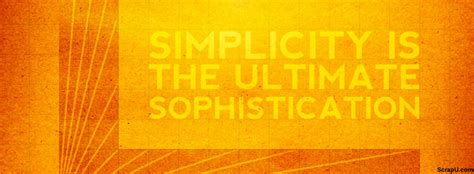 quotes simplicity   ultimate sophistication timeline cover