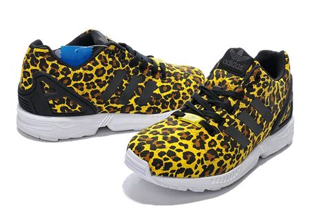 fashionable adidas originals zx flux s athletic shoes leopard black half price buy