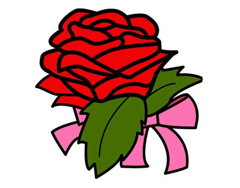 imagenes de flores a color dibujo de rosa d color rojo pintado por salma59522 en