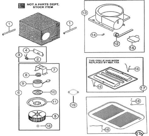 nutone qt90 quiettest exhaust fan parts
