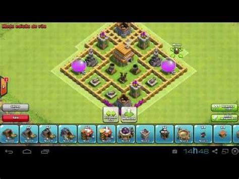 layout vila nivel 2 layout centro de vila nivel 6 clash of clans youtube