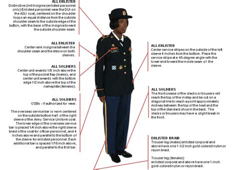 asu class b measurements army uniform female asu measurements army uniform