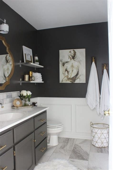 Best Color For Master Bathroom by Accent Color For Gray And White Bathroom