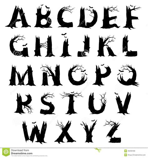 printable scary fonts 14 scary fonts a z images scary halloween alphabet