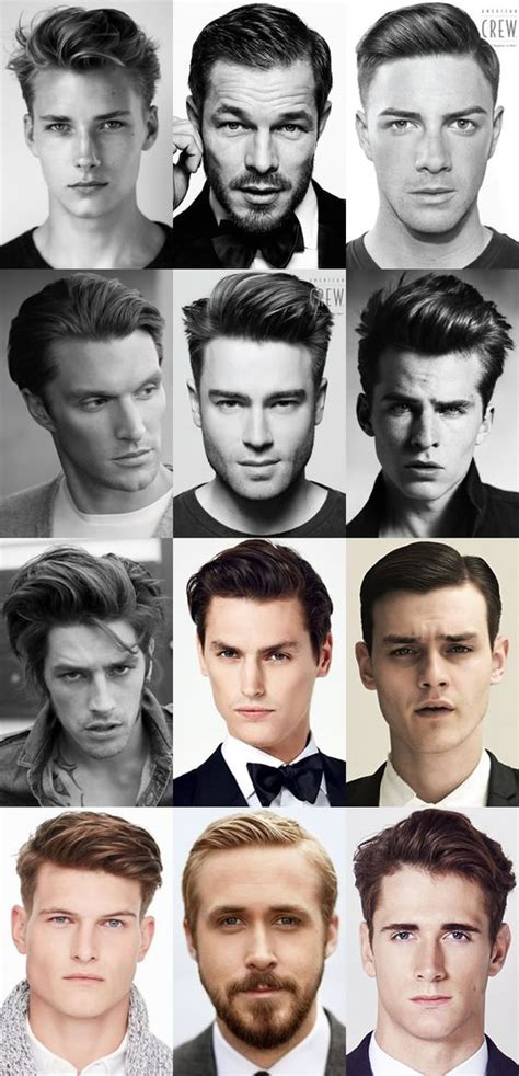 different types of mens quiffs men s classic quiff hairstyles lookbook hair styles