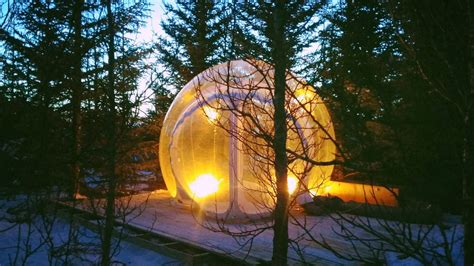 golden circle iceland  floating  bubble stay