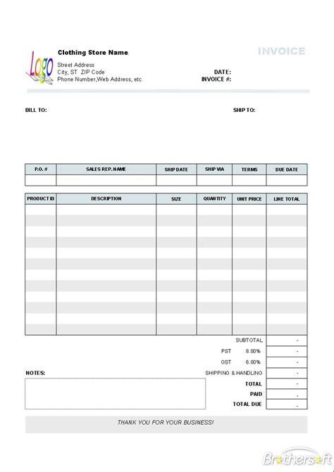 quickbooks invoice template auto repair db excelcom